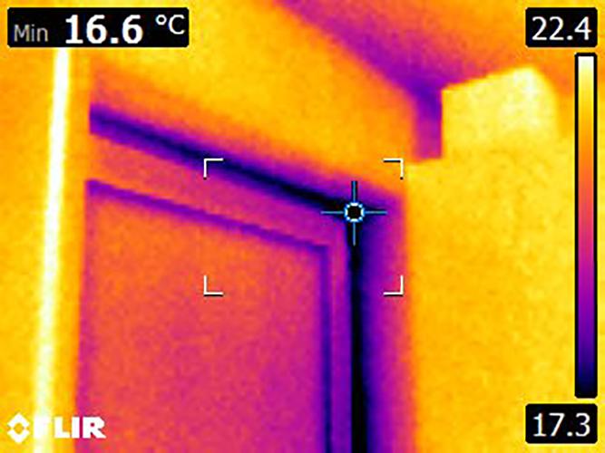 Wärmebild Küchenfenster von innen